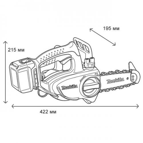 Electrosierra 115mm Inalámbrica 18v Makita DUC122RFE