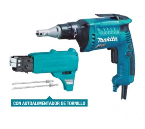 Atornillador de Tabiquería /Yeso + Autoalimentador Makita FS4000JX2