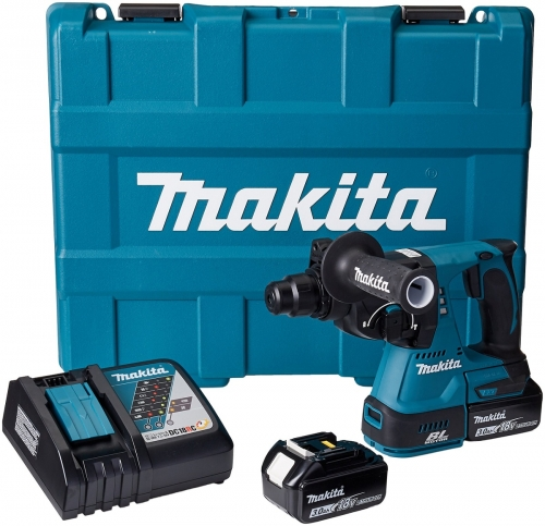 Rotomartillo Aspirante 24mm Inalámbrico 18V Makita DHR242RFE