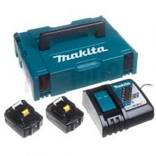 Kit Alimentación 18V Makita Cargador + Baterías de 3 Ah 197952-5