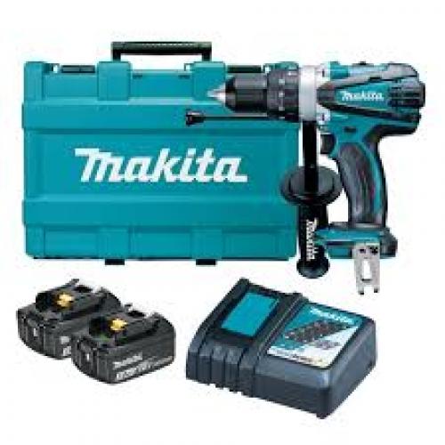 Taladro Atornillador Percutor 18V Makita 16mm DHP458RFE